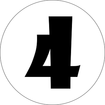 Four, 4, Number, Numeral, Typography, Alphabet