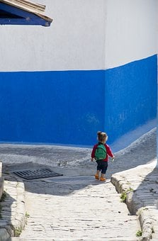 Blue, School, Future, Little Girl