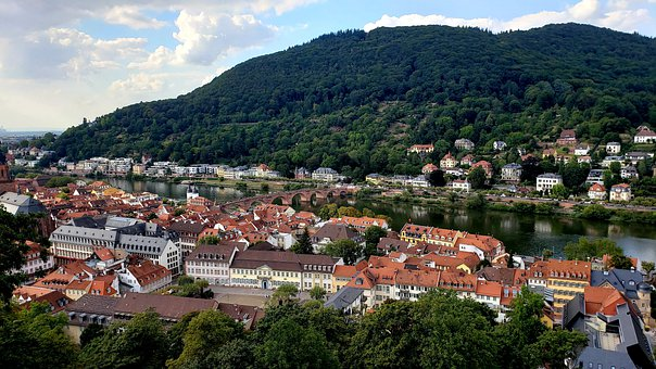 Heidelberg, Germany, Castle, Historically, River, City