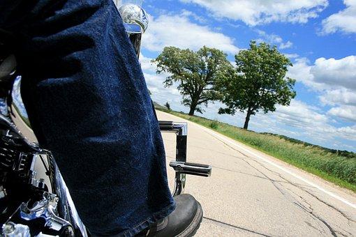Motorcycle, Road, Biker, Curve, Outdoors