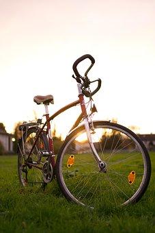 Bike, Sky, Sunset, Nature, Simplon, Retro, Bicycle Tour