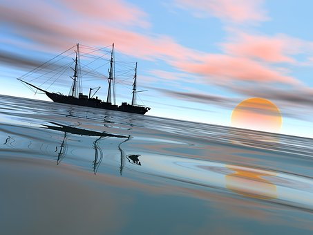 Water, Sea, Sky, Reflection, Nature