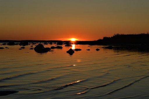 Sunset, In, Saaremaa