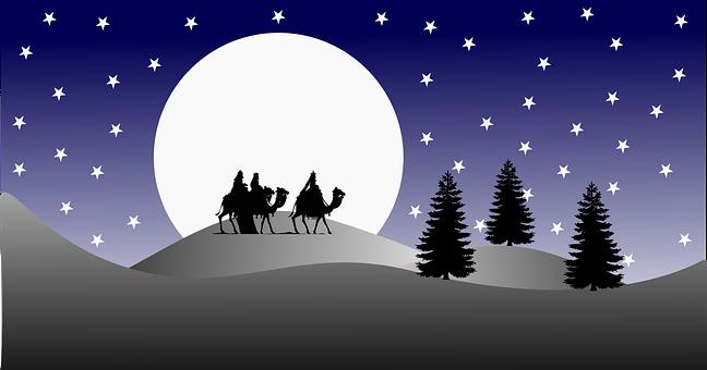 Three Kings, Desert, Christmas, Travel, Landscape