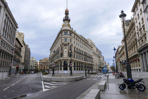 Spain, Madrid, Streets, Architecture