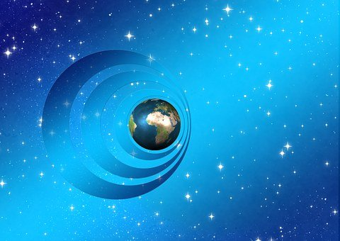 Universe, Earth, Globe, Rings, Space