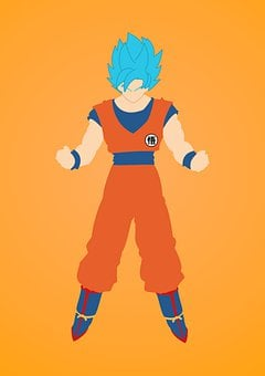 Dragon Ball Z, Goku, Anime, God, Blue, Super Saiyan