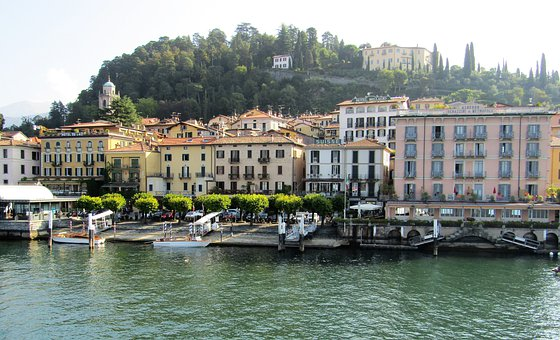 Bellagio, Landscape, Travel, Water, Brine, Lake