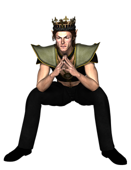 Man, King, Fantasy, Male, Crown, People