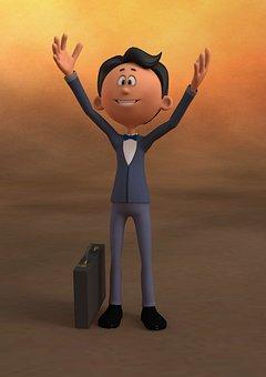 Businessman, Successful, Confident, Optimistic, Men
