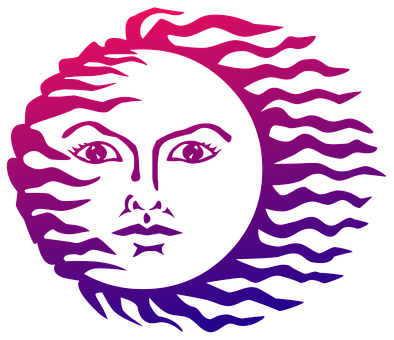 Sun, Face, Symbol, Abstract, Design, Sign, Summer, Icon
