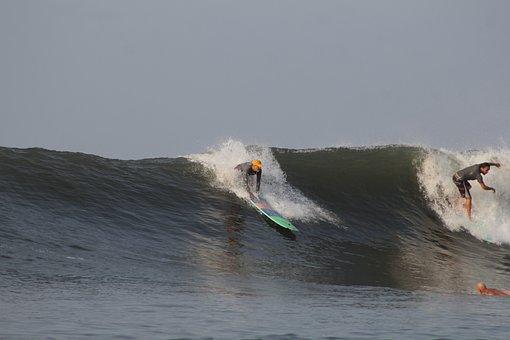 Surf, Sport, El Salvador, Board, Wave, Blue Sports