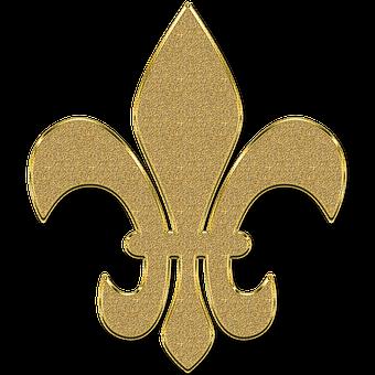 Monogram, Golden, Ornament, Element, Vintage, Gold