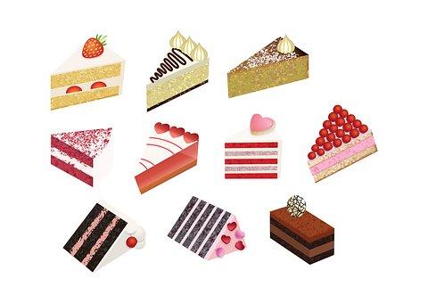 Cake, Desert, Slice, Sweet, Bake