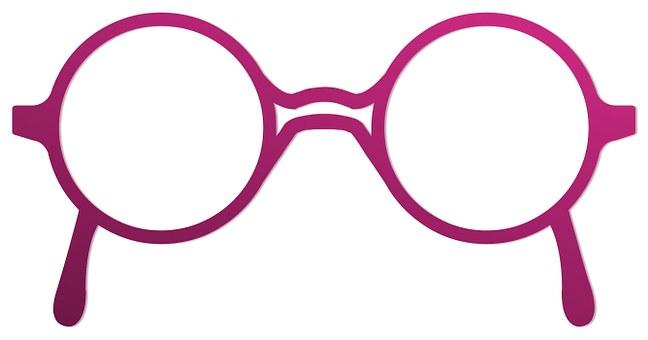 Glasses, Round, Old, Design, Fashion, Silhouette, Shape