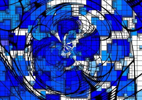 Arrangement, Blue, Abstract, Aesthetics, Aesthetic