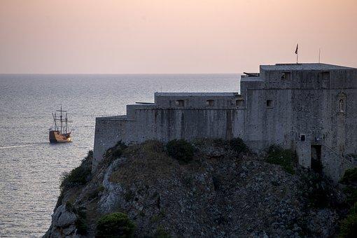 Dubrovnik, Croatia, Sea, Landscape, Travel, Castle