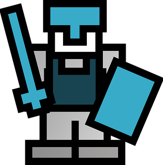 Knight, Swordsman, Sword, Shield, Tile