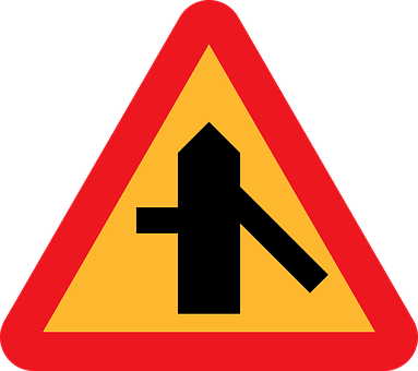 Traffic Merges From The Right, Side Road