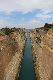 Corinth, Channel, Corinth Canal, Waterway, Greece