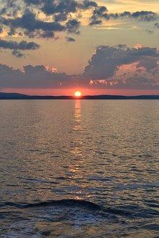 Sunset, Canada, Nova, Scotia, Evening, Dusk, Ocean