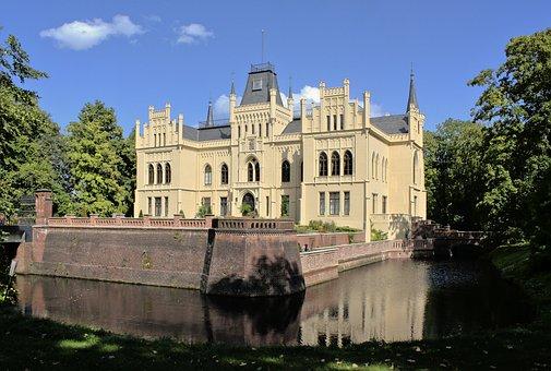Building, Park, Castle, Fortress, Lake, Evenburg
