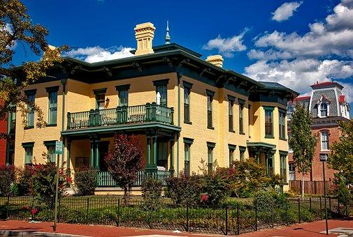 Washington Dc, C, Ledroit, Neighborhood, Houses, Homes