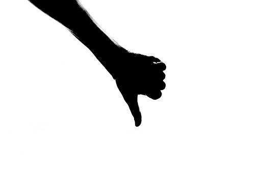 Silhouette, Thumb, Down, Looser, Icon, Human