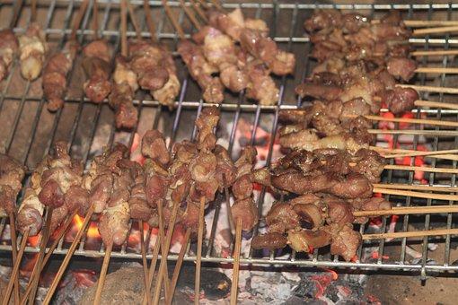 Satay, Grilled Satay, Goat Satay, Indonesian Food