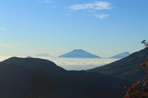 Mount, Sikunir, Jateng, Cloud, The Sky Is Blue, View
