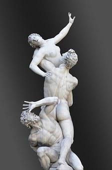 Italy, Florence, Statues, Logia Dei Lanzi