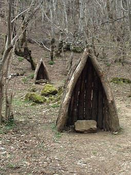 Hut, House, Old, Landscape, Rural, Field, Hunting