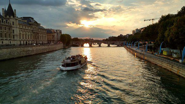 Paris, Seine, River, France, French, Parisian, European