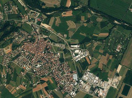 Overlook, Satellite Photo, European Town, Plan