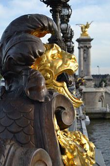 Paris, Bridge, Sculpture, France, Architecture, River