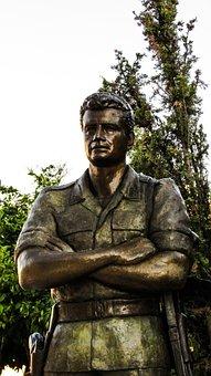 Soldier, Hero, War, Sculpture, Monument, Eoka