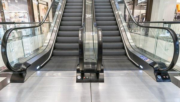 Stairs, Escalator, Shopping Centre, Floor, Gradually