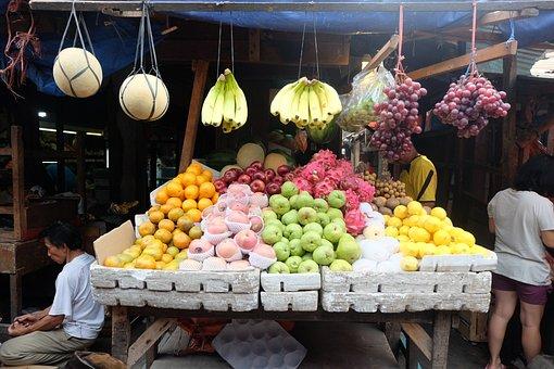 Market, Traditional, Fruit, People, Food, Shop, Travel
