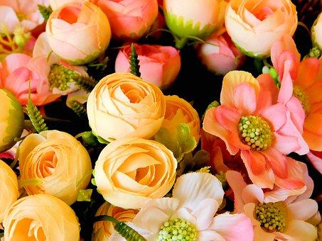 Artificial Flowers, Colorful, Flowers, Bouquet
