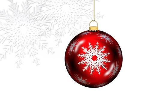 Ball, Christmas Ornament, Christmas Motif, Red