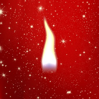 Flame, Candle, Candlelight, Christmas, Red, White, Snow