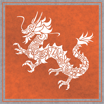 Dragon, Chinese, Background, Chinese Dragon, Vintage