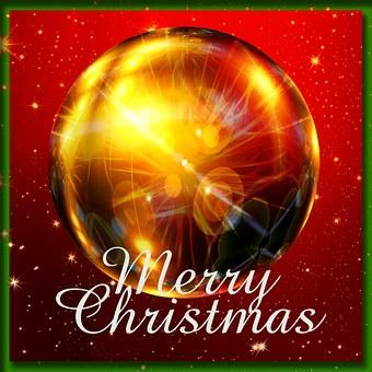 Christmas Ornament, Christmas, Red, White, Snow