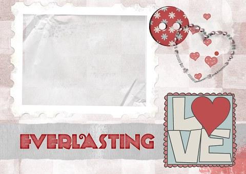 Love, Everlasting, Scrapbook, Page, Frame, Heart