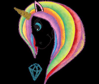 Animals, Unicorn, Horse, Illustration