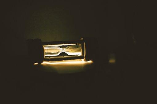 Hourglass, Light, Time