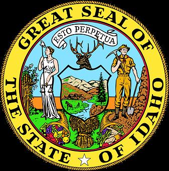 Idaho, State, Usa, State Seal, United States