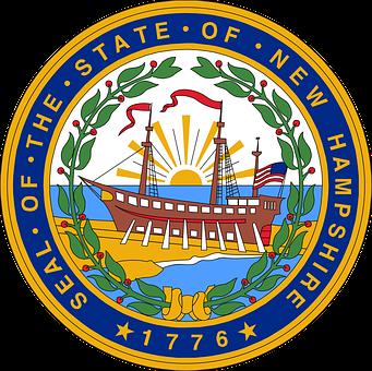 New, Hampshire, Seal, Flag, Sailing, Ship, Boat, Ocean