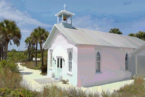 Church, Chapel, Boca Grande, Beach
