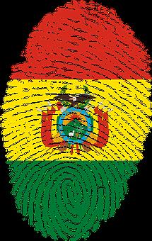 Bolivia, Flag, Fingerprint, Country, Pride, Identity